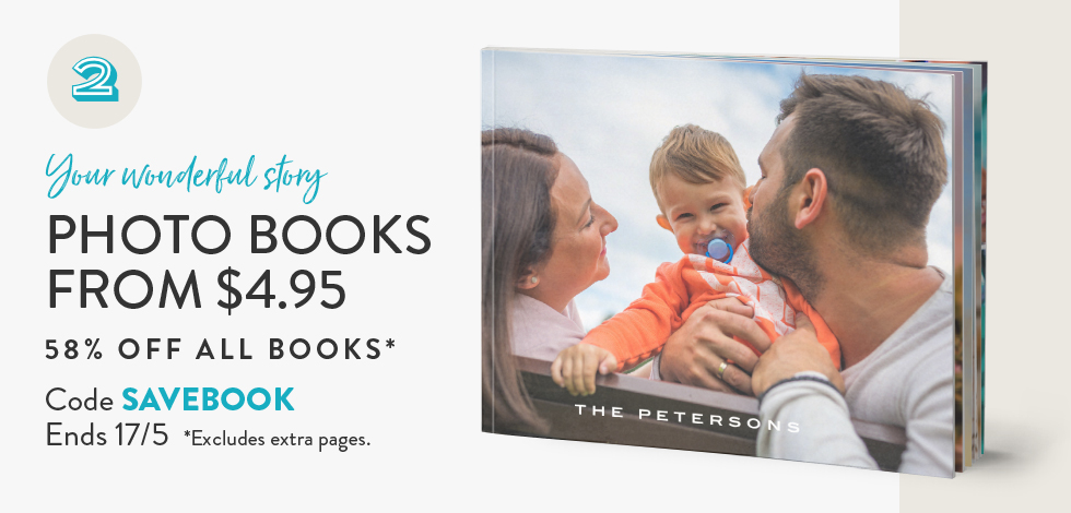 58% off all Photo Books*