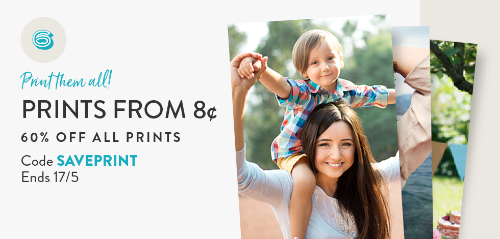60% off all Prints