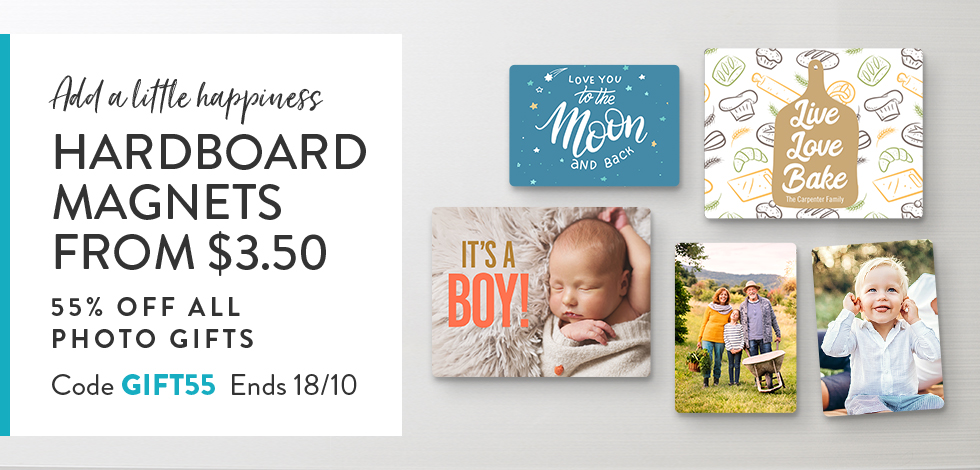 55% off all Photo Gifts