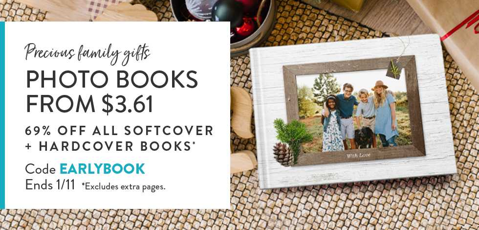 69% off all Soft and Hardcover Books - excludes extra pages
