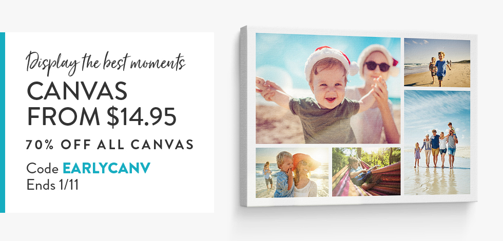 70% off all Canvas