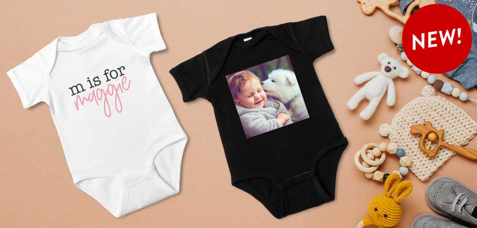 New! Custom Baby Bodysuits