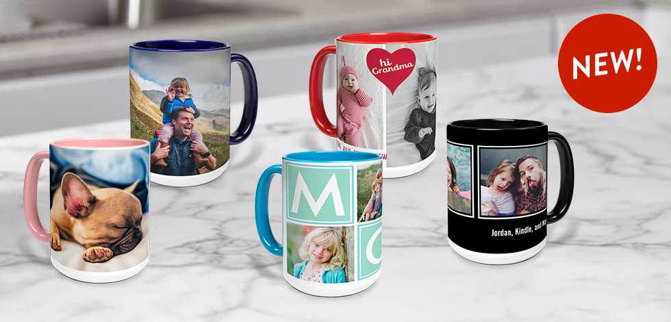 NEW! 15 oz. COLOR ACCENT MUGS