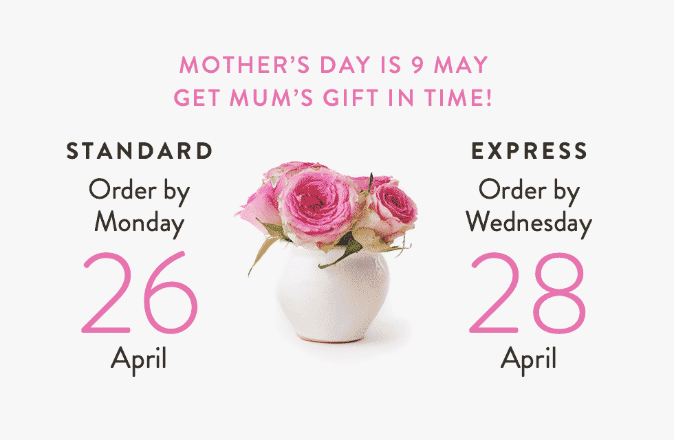 Mothers Day last order dates