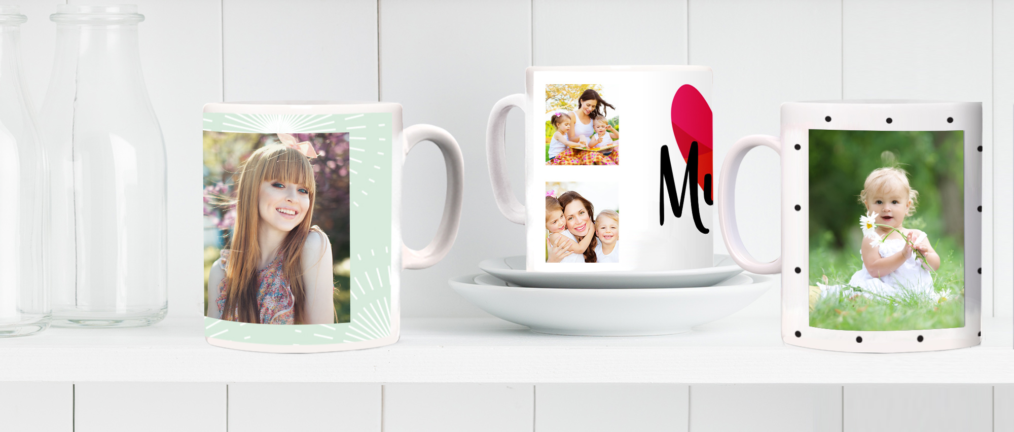 Make this customised crockery unique with your favourite photos and personal messages. Simply choose your preferred template and follow our step by step instructions. You can use images from your social media accounts, computer or phone, so wherever you store your most cherished snaps, you can display them in style.  Creating perfectly crafted photo mugs with Truprint takes a matter of minutes, and if your design isn't perfect, our intelligent software will stop you from buying it. As soon as you've placed your order, we'll bring it to life right here in the UK, ensuring a flawless finish. With designs available from as little as £7.99, our mugs are superb value for money too. So, you don't have to bust your budget to get your hands on one of these cute, quirky accessories.