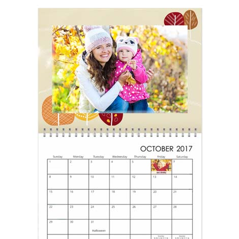 11x8.5 Classic Wall Calendar