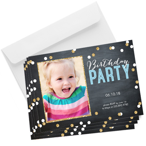 Chalkboard Glitter Card Design