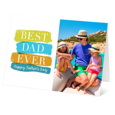 """Colourful Dad"" Design Father's Day Card"