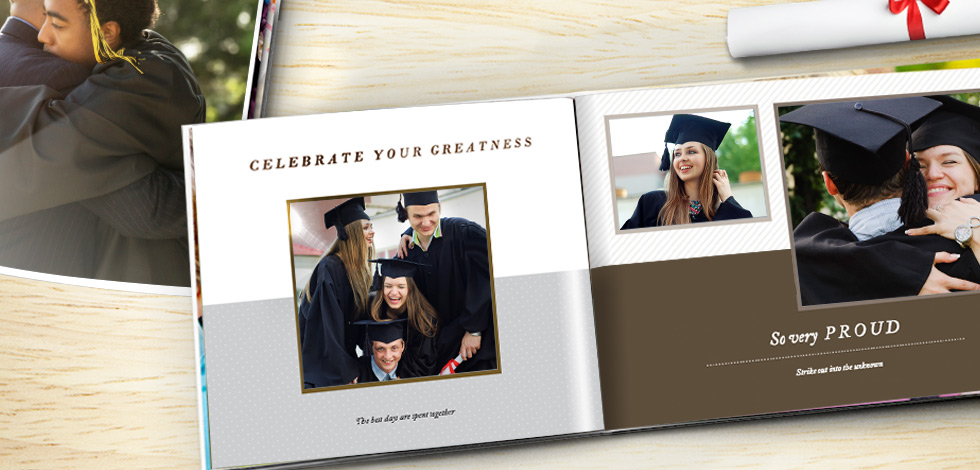 Premium glossy pages give your Photo Books an elegant finish