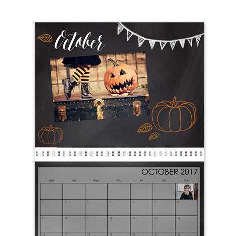 Calendar Design - Chalkboard Seasons