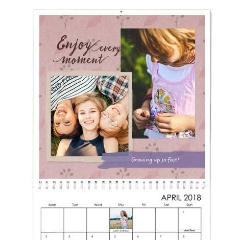 Square Premium Photo Calendar From £21.99