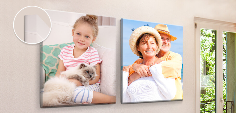 Personalised Slim Canvas Prints From £10